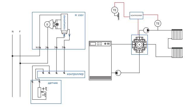 Сервомотор valtec для смесительного клапана аналоговый