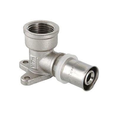 Пресс-фитинг Valtec VTm.254.N – угольник с креплением (водорозетка)